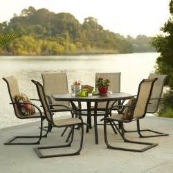 lowes patio dining sets garden treasures hayden island 7 outdoor dining set