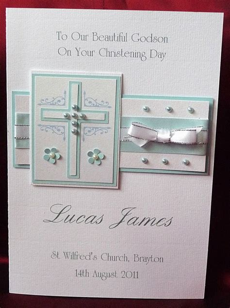 Handmade Baptism Invitations - details about personalised handmade a5 christening card