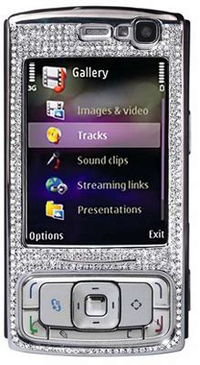 Nokia N95 Gets More Desirable With Diamonds by Amosu S Encrusted Nokia N95 Tempts The Affluent