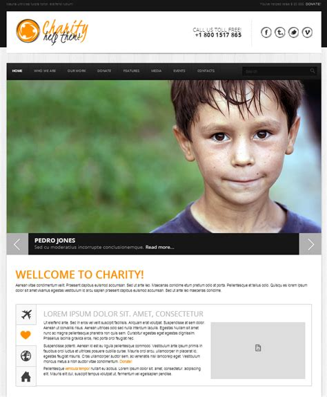 Best Nonprofit Charity Html Templates Charity Website Templates