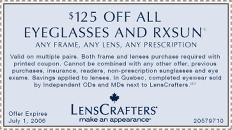 lenscrafters coupons photos