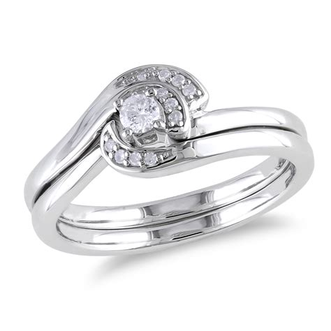 silver ring for sterling silver wedding ring set