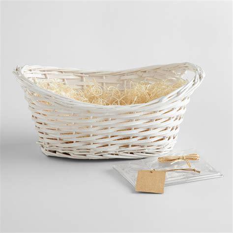 gift baskets white gift basket kit world market