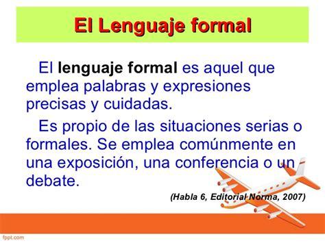 significado de carta formal e informal lengua formal e informal