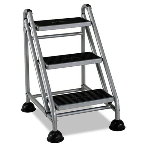 Rolling Step Stool by Rolling Commercial Step Stool 3 Step 26 3 5 Spread