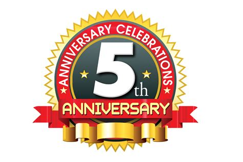 5th anniversary logo template in ping format naveengfx