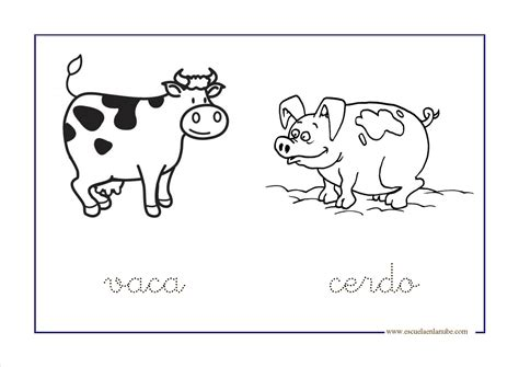 imagenes de animales de granja para imprimir a color animales de la granja para colorear
