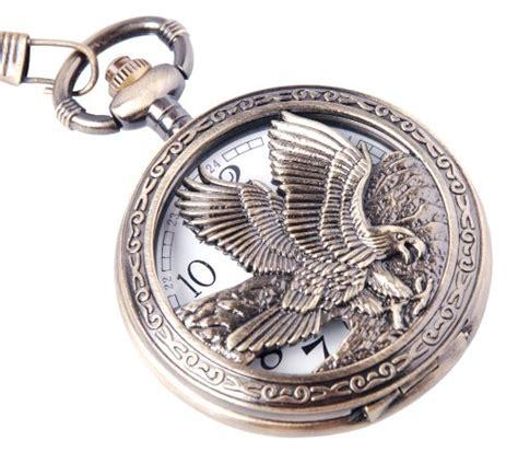 eagle scout pocket eagle design pocket with chain quartz movement
