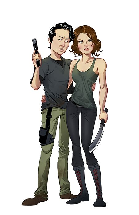 The New Cool Couples Chris Ginnifer And Maggie by Walking Dead Style Fan By Edward Pun Geektyrant