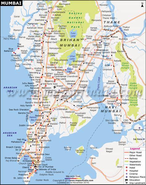 mumbai map image mumbai maharashtra city map information and travel guide
