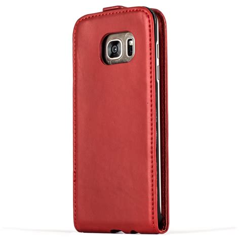 Samsung Galaxy S7 Edge Premium Leather Flip Cover Kulit snakehive 174 premium leather flip cover for samsung