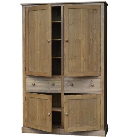 Pine Kitchen Pantry Cabinet Solid Pine Cupboard Large 4 Door Larder Pantry Linen Kitchen Care Partnerships