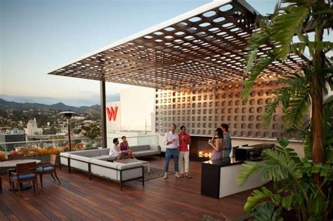 704 best outdoor spaces images on pinterest roof terraces la s best rooftop park amenities hollywood penthouses