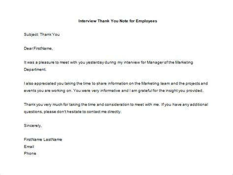 thank you letter after program appreciation note to employee resume cv cover letter