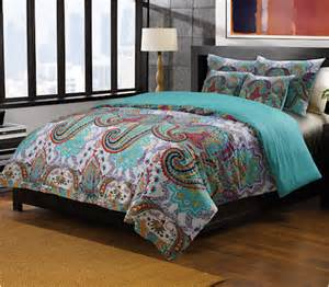 Blue Paisley Duvet Cover King Oriental Paisley Red Turquoise Blue Bedding Twin Full