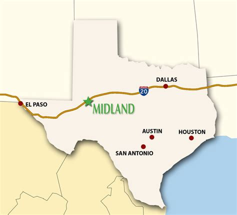 where is midland texas on a map of texas midland texas city overview