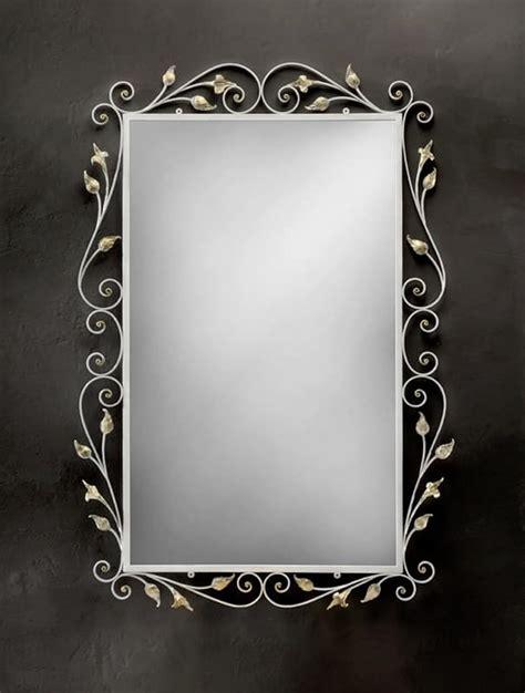 cornici in ferro specchiera rettangolare con cornice in ferro battuto