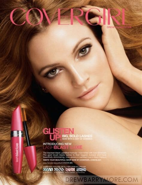Drew Barrymore Signs With Covergirl Cosmetics by 78 Images About Cover Commercial On Top