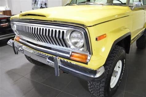 jeep cherokee yellow 1978 jeep cherokee chief 38747 miles yellow 360 cid