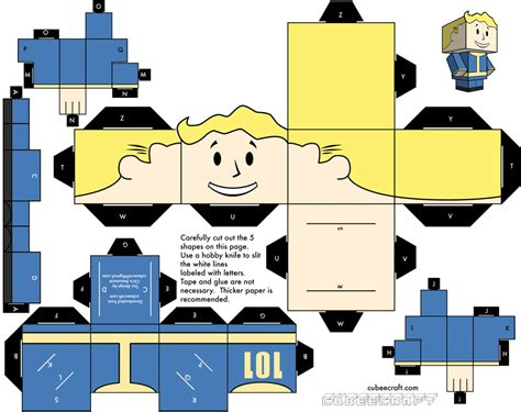 great idea papercraft pip boy vault boy for