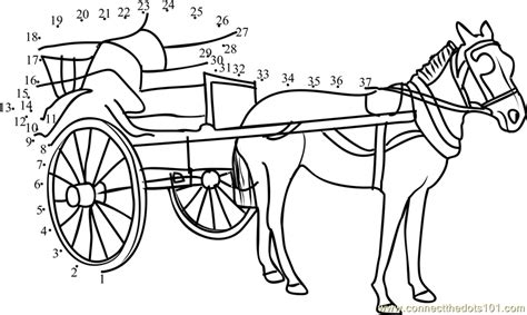 free coloring pages of horse carriage