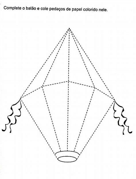 Balão de São João: Como Fazer, Molde | Desenhos para