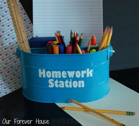 homework station our forever house back to school homework station
