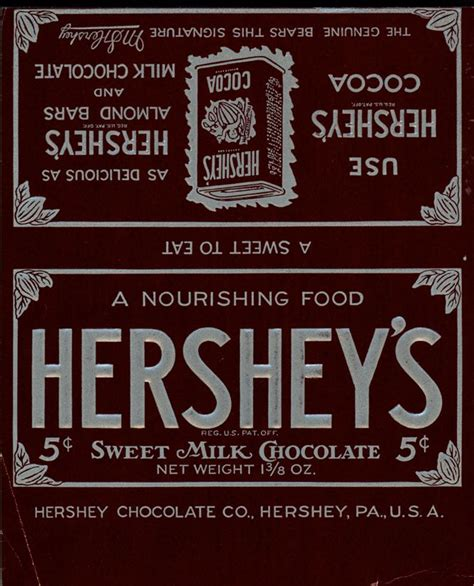 Hershey Candy Bar Label Template