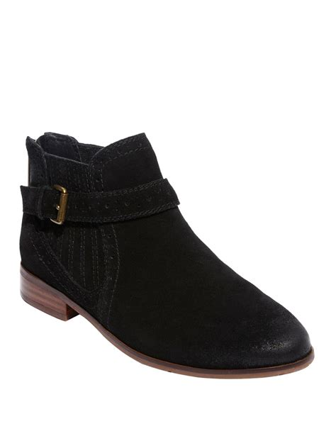 dolce vita ankle boots dv by dolce vita suede ankle boots in black lyst