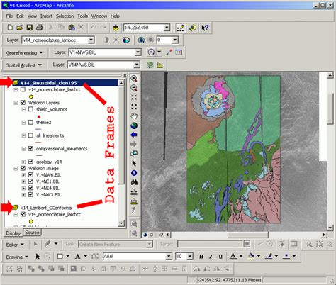tutorial arcgis map arcmap 8 x and planetary projection tutorial