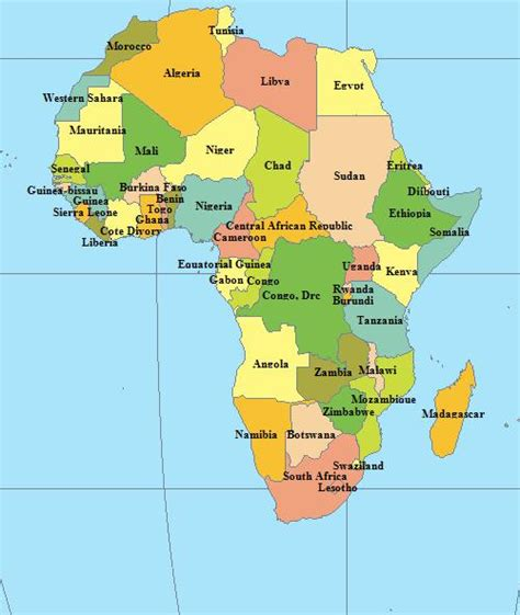 continent of africa map continent map page
