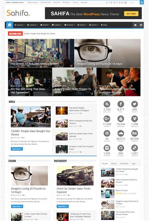 sahifa theme ads 20 best google adsense ready magazine wordpress themes 2018