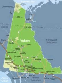 yukon map yukon alaska yukon canada and