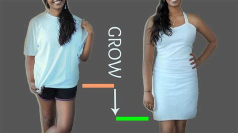 How To Make A T Shirt Out Of Paper - easy t shirt to dress tutorial diy t shirt