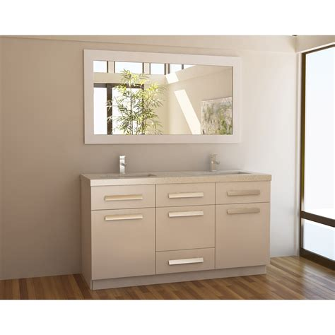 60 in bathroom vanity double sink design element moscony 60 quot double sink vanity set white free shipping modern