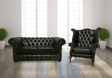 Leather Chesterfield Suite Antique Green Handmade In Uk Leather Sofa Sale Uk Only