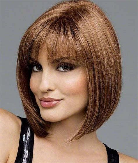 bob hairstyles with bangs for 50 bobs hairstyle for woman over 50 with bangs medium short