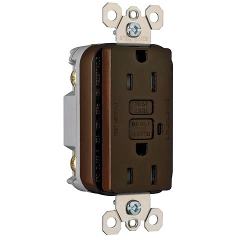 brown electrical sockets shop pass seymour legrand 15 brown decorator gfci