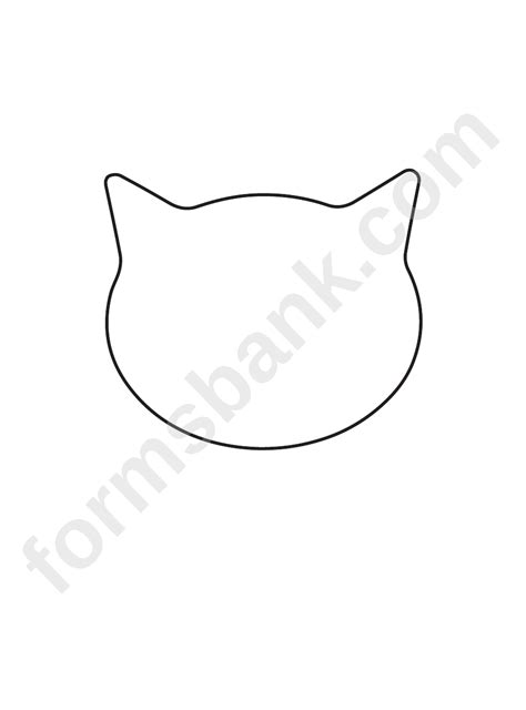 cat face template printable