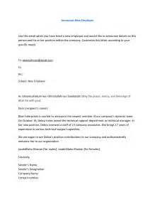 employee termination announcement template letter to announce employee departure sle letter