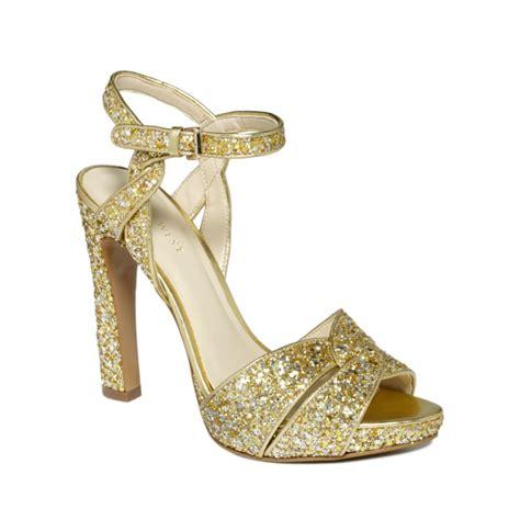 gold platform sandals nine west hotlist platform sandals in gold gold glitter