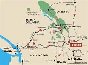 fernie canada map getting to black chalet