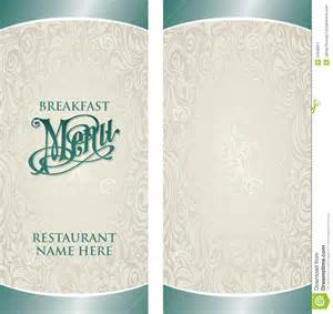 blank menu templates free breakfast menu template with blank side selimtd