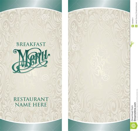 empty menu templates breakfast menu template with blank side selimtd