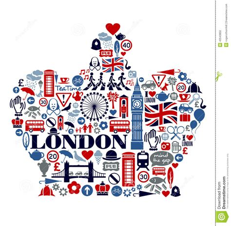 graphics design uk london great britain icons landmarks and attractio stock