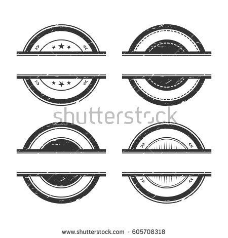 rubber st with logo empty grunge rubber sts set place stock vector