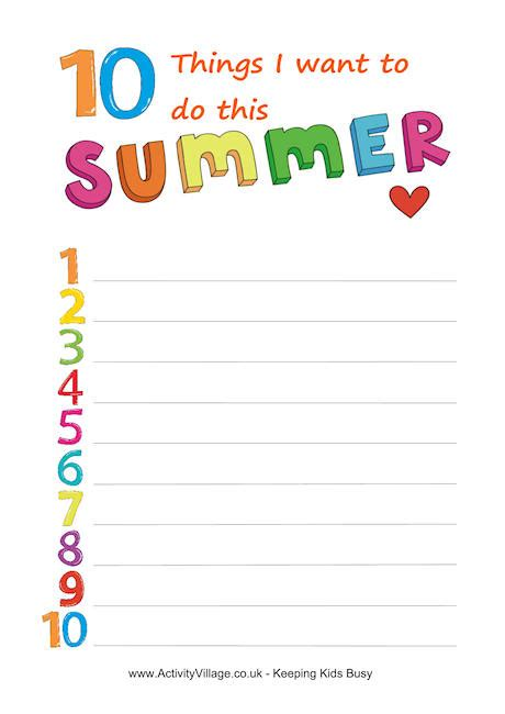 printable summer holiday planner summer planning printable