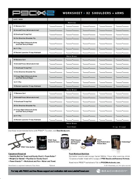 P90x2 Worksheets by P90x2 Worksheets Lesupercoin Printables Worksheets
