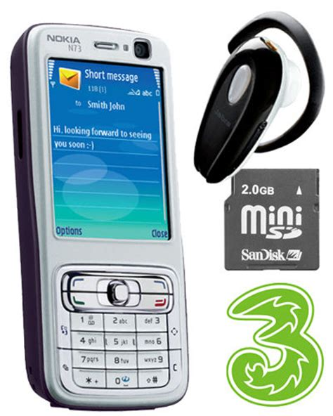 Memory N73 Nokia N73 Mobile Phone With Free Bluetooth Headset And 2gb