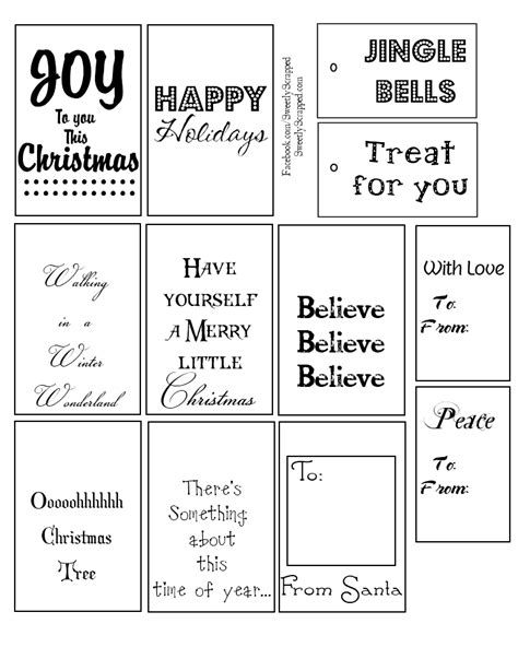 printable gift tags black and white 9 best images of printable christmas tags black and white